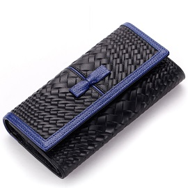 Bowtie 3 Folding Long Type Wallet