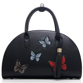 Vogue Butterfly Embroidery Shell Women Satchel