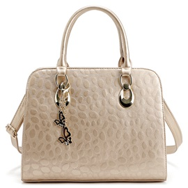 Ladylike Stone Pattern Women Satchel