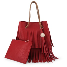 Personality Tassel Decorated Bucket Bag Sets