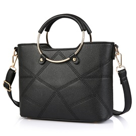 Europeamerica Checkered Thread Commute Women Satchel
