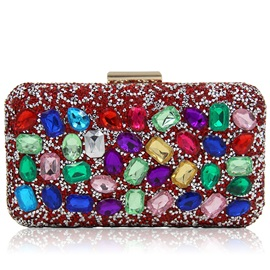 Colorful Diamond Magnetic Snap Clutch