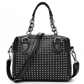 Trendy Rivet Chain Design Women Satchel