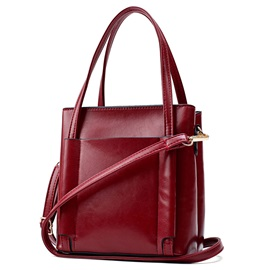 Simply Solid Color Women PU Satchel