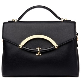 Contracted Solid Color PU Crossbody Bag