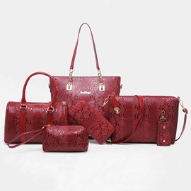 Occident Style Embossing Design PU Bag Set