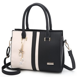 Stylish Color Block Women Satchel