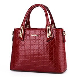 Occident Style Bright PU Leather Satchel