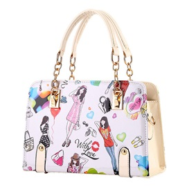 Fashionable Lady Pattern Satchel