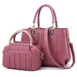 Occident Style Croco-Embossed Bag Set