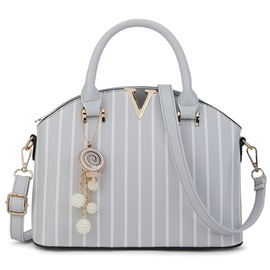 Vertical Grain Shell Shape Satchel