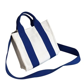 Casual Stripes Vertical Type Crossbody Bag