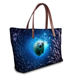 Distinctive 3D Infauna Printing Women Tote