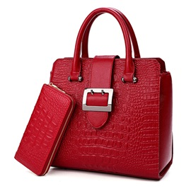 Classic Croco-Embossed Bag Set