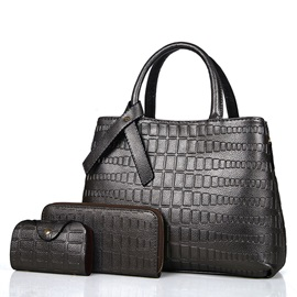 Classic Stone Grain Embossing Three Bag Set