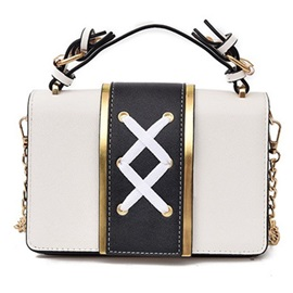 Personality Design Color Block Crossbody Bag