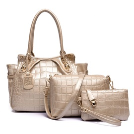 Occident Style Stone Grain Women Bag Set
