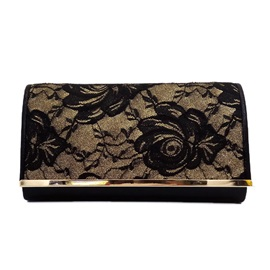 Lace Surface Women Evening Clutch