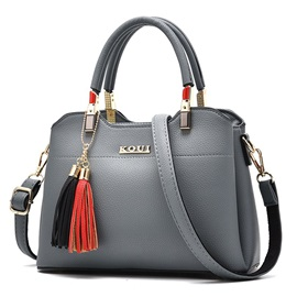 Ladylike Metal Tassel Decoration Women Satchel