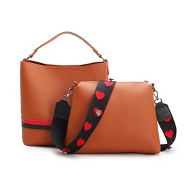 Casual Applique Prints Bag Set (2 Bag Set)
