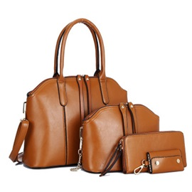 Vintage Solid Color Zipper Women Bag Set ( 4 Bags Set)