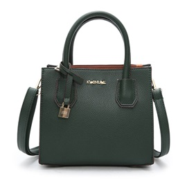 All Match Solid Color PU  Satchel
