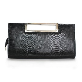 Classic Croco-Embossed PU Clutch