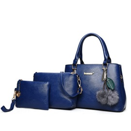 Graceful Solid Color Women Bag Set (3 Bag Set)
