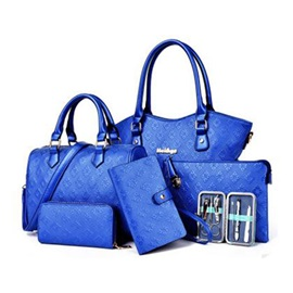 Casual Embossing Women Bag Set (Six Bags Set)