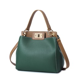 Korean Style Color Block Latch Women Satchel