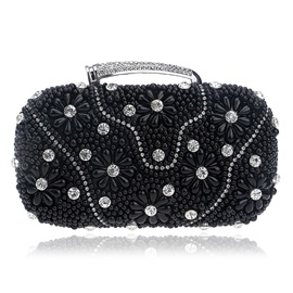 Luxurious Pearls Decoration Evening Clutch