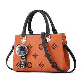 Floral Embossing PU Women Satchel
