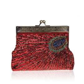 Sequnis Peacock Pattern Women Clutch