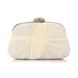 Pillow Shape Pleated Women Clutch