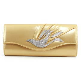 Simplicity Rhinestone Decoration Women Clutch