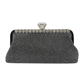 Trendy Rhinestone Decoration Women Clutch