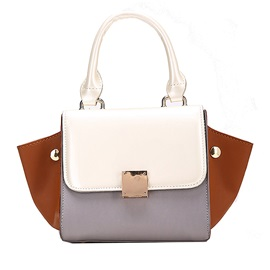Occident Style Contrast Color Tote Bag