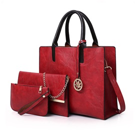 Contracted Solid Color Women Bag set