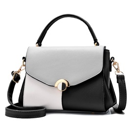 Modern Casual Color Block Patchwork Women Crossbody Bag