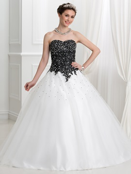 Appliques Beading Ball Gown Quinceanera Dress