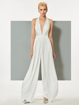 Chic Sheath Halter Sleeveless Evening Jumpsuits