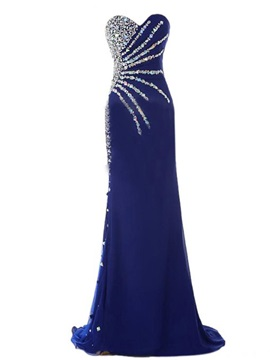 Gorgeous Mermaid Sweetheart Neckline Beadings Evening Dress
