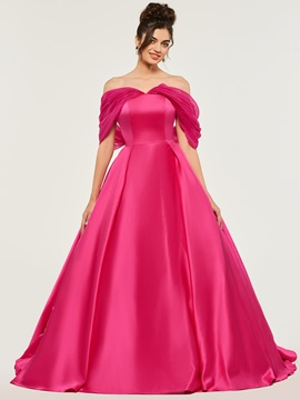 Bowknot A-Line Off-the-Shoulder Quinceanera Dress