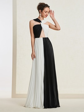 Sleeveless Floor-Length A-Line Scoop Evening Dress 2019