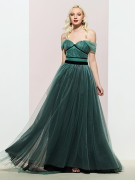 A-Line Sweetheart Sweep/Brush Evening Dress 2019
