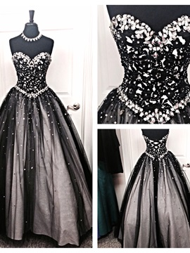 Ball Gown Floor-Length Sleeveless Beading Quinceanera Dress 2019