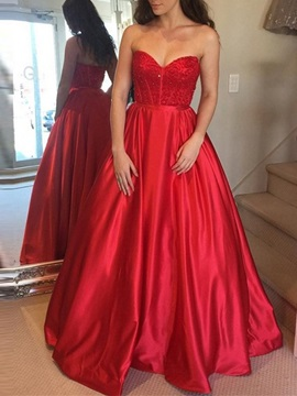 A-Line Sweetheart Beading Prom Dress 2019
