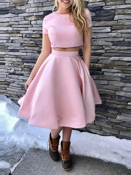 Scoop Sleeveless Tea-Length A-Line Homecoming Dress 2019