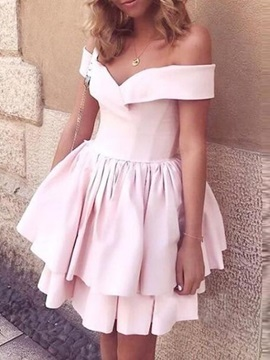 Ruched Mini Sleeveless A-Line Homecoming Dress 2019