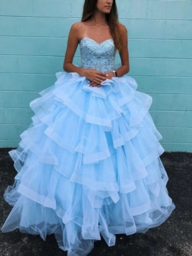 Ball Gown Sweetheart Beading Quinceanera Dress 2019